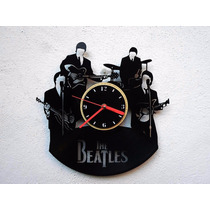 Reloj De Pared De Disco De Vinilo Vinil Acetato The Beatles