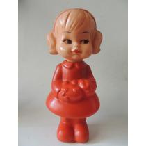 Brinquedo Antigo - Boneca De Plástico Bolha - 24 Cm
