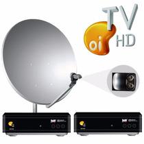 Kit Oi Tv Livre Hd Com Dois Receptores + Lnbf Quádruplo !!!!