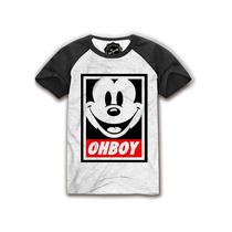 Camiseta Long Line Masculina Mickey Supreme Alife Rap Kit