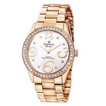 Relógio Champion Passion Feminino Ch24464z Strass Bronze