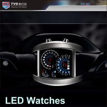Relógio Tvg Led Militar Luxo. Velocimetro Carros