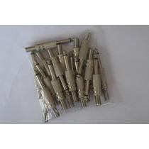 Kit C/ 20 Plugs P10 Mono Csr Com Isolamento De Fenolite
