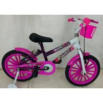 Bicicleta Infantil Aro 16 Feminina Monster High Vip Bikes