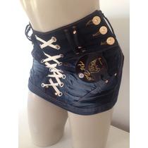 Shortes-saia Pit Bull - Jeans Com Lycra
