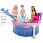 Barbie Pileta Piscina Con 3 Muñecos Barbie Ken Y Amiga Matte