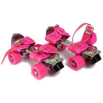 Patin Extensible Talle 28 A 41 Rosa Cuerpo Metal Envios