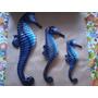 Trio De Cavalos Marinhos, (azul)em Resina Com Fibra De Vidro