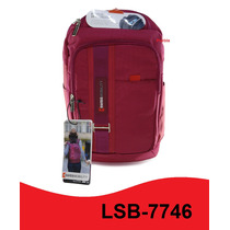 Mochila Backpack Swiss Lsb-7746 Rosa Para Laptop 15.6 Puebla