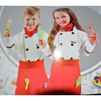 2 Disfraces Cocinero Talla 5-6+2 Disfraces Constructor 1 T3