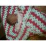 Manta De Bebe Tejida Al Crochet.
