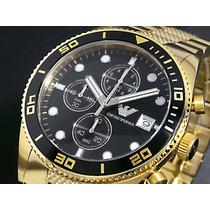 Relógio De Luxo Dourado Empório Armani Ar5857 Gold Original.