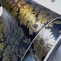 Papel Contact ( Auto-adesivo / Parede) Floral Dourado 10 Mt