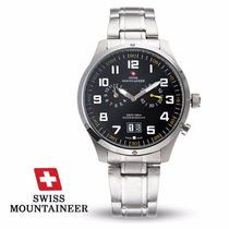 Relogio Suiço Swiss Mountaineer Sm1220 Aço Em Caterpillar