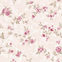 Papel De Parede Floral Rosa Adesivo Contact Vinílico Lavavel