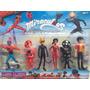 Brinquedo Miraculos Chat Noir Lady Bug E Seus Amigos Kit C/6