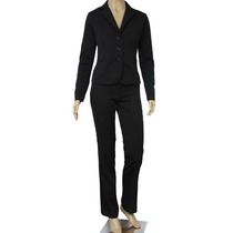 Terno Blazer Terninho Feminino Preto Slim Two Way