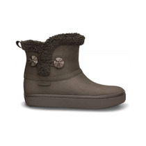 Crocs Bota Modessa Shorty Suede Button - Mujer