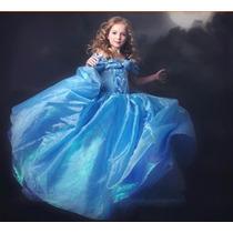 Vestido Fantasia Infantil - Cinderela Luxo - Pronta Entrega