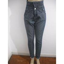 Calça Jeans Tipo Saruel Tam 34 Cintura Alta Ótimo Estado