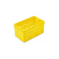 Caixa Plastica Luz 4x2 Amarela Tramontina Cx/25
