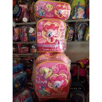 Mochila Original My Little Pony En 3d Con Lonchera Lapicera