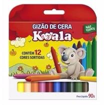 Gizao De Cera 12 Cores Koala Pacote Com 12 Caixas Atacado