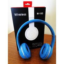 Headphone M-15d Bluetooth Wireless Ou Cabo Radio Fm Música