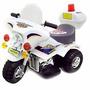 Moto A Bateria De Policia Luces Sirenas Baul Porta Objetos