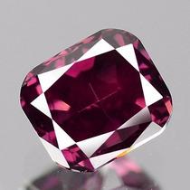 Diamante Color Rosa Purpura .37 Cts Natural. Corte Radiant