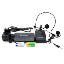 Microfone De Lapela Sem Fio Profissional Headset 50mts