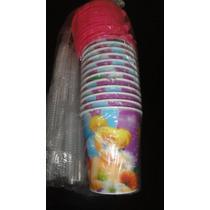 Souvenirs X10 Vasos De 250ml Campanita Tapa Y Sorbete
