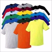 Kit 20 Camisetas Infantil Básica Lisa 100% Algodão