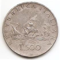 Italia Moneda De 500 Liras De Plata Año 1959 R Km#98