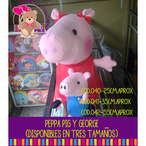 Peluche De Peppa Pig Y George 20cm. Mayor Y Detal