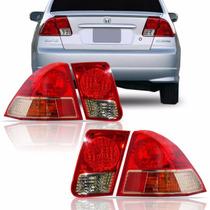 Jogo Kit Lanterna Civic 2001 2002 2003 2004 2005 2006