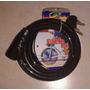 Linga Traba Moto Bici Cable De Acero 1,2 Mt 12 Mm 2 Llaves