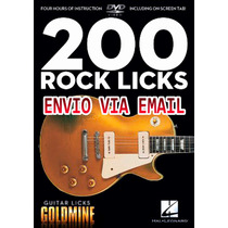 Video Aula 200 Guitar Licks De Guitarra Rock
