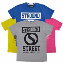 Camisetas Skatewear Manga Curta Da Stroond - 100% Algodão