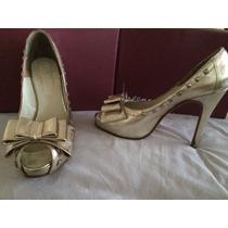 Zapatos Dorados Talle 39-perugia