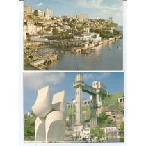 2 Cartões Postais Antigos - Salvador - Ba - Anos 70.