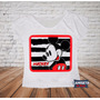 Camiseta Blusa Gola Canoa Feminina Mickey Vintage Sublimada