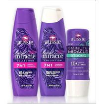 Kit 7 Em 1 Aussie Shampoo + Condicionador + 3 Minute Strong