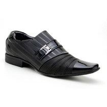 Sapato Social Masculino Envernizado Brilhoso Couro Legítimo