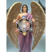 Arcangel Metatron De Resina Decorado 30 Cm De Alto