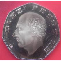 Moneda Mexico 10 Pesos 1982 Proof Muy Escasa Solo 150pcs