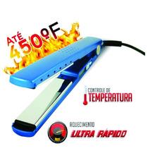 Prancha Chapinha Pro Nano Titanium 450° Rosa Azul 12x S Juro