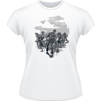 Baby Look Zombies The Walking Dead Twd Camiseta Camisa Serie