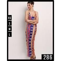 286 Maxi Vestido Casual Entallado Comodo Elegante