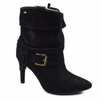 Bota Coturno Feminino Dakota Salto Fino Ankle Boots Can Curt